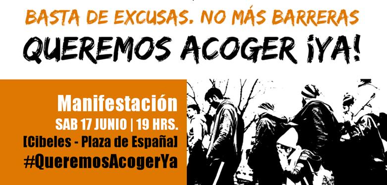 #QueremosAcogerYa - 17J