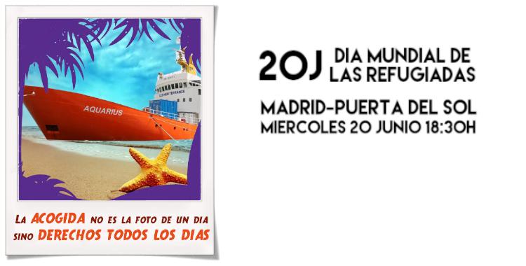 20 DE JUNIO. DÍA MUNDIAL DE LAS PERSONAS REFUGIADAS.